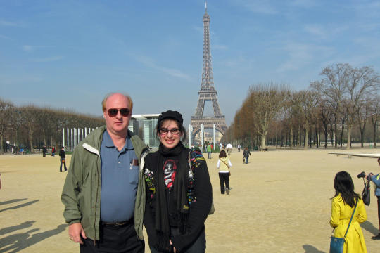 At Eiffel Tower in Paris